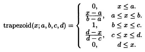 trapezoidal MF